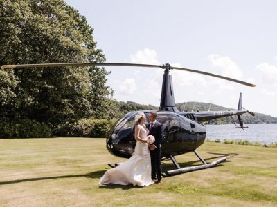 Flying Pig Helicopters wedding