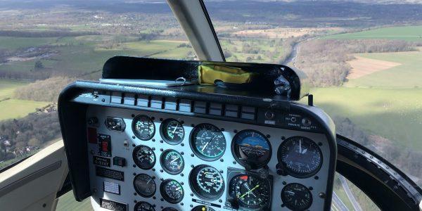 Flying Pig Helicopters inside jet ranger